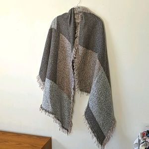 2 Chic Cozy Sweater Blanket Wrap with Fringe